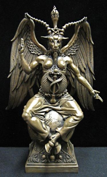 Baphomet Statue Cold Cast Bronze